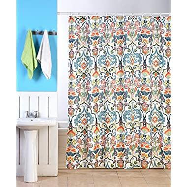 Emery Fabric Shower Curtain, 70 x70 , Colorful Floral Geometric Printed Design