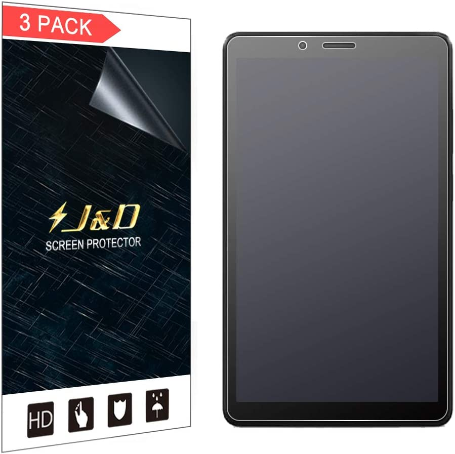 J&D Compatible for Lenovo Tab M7 Screen Protector, 3-Pack [Anti-Glare] [Anti-Fingerprint] [Full Coverage] Matte Film Shield Screen Protector for Lenovo Tab M7 Protective Film