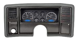 Dakota Digital 78 -88 Chevy Monte Carlo Analog Dash Gauge System Black Alloy Blue VHX-78C-MC-K-B