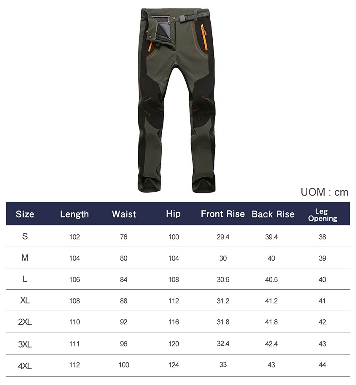 Lachi Mens Cargo Work Trousers Cargo Combat Work Trouser with Knee Pad Pockets and Reinforced Seams Softshell Fleece Thermal Pants Cargo Warm Windproof Hiking Camping Outdoor