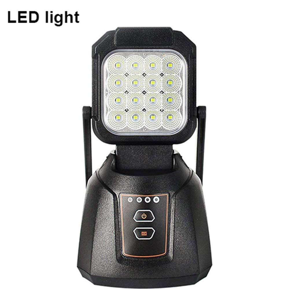 AAIWA Foco LED Proyector 48W 4800LM Lámpara Camping Recargable Luz de Trabajo LED Linterna para Emergencia Taller Automóviles Patio Jardín y Modo SOS: ...