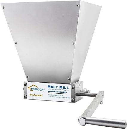 Stainless 2-roller Homebrew Barley Grinder Crusher Malt Grain Mill Barley Mill F0116