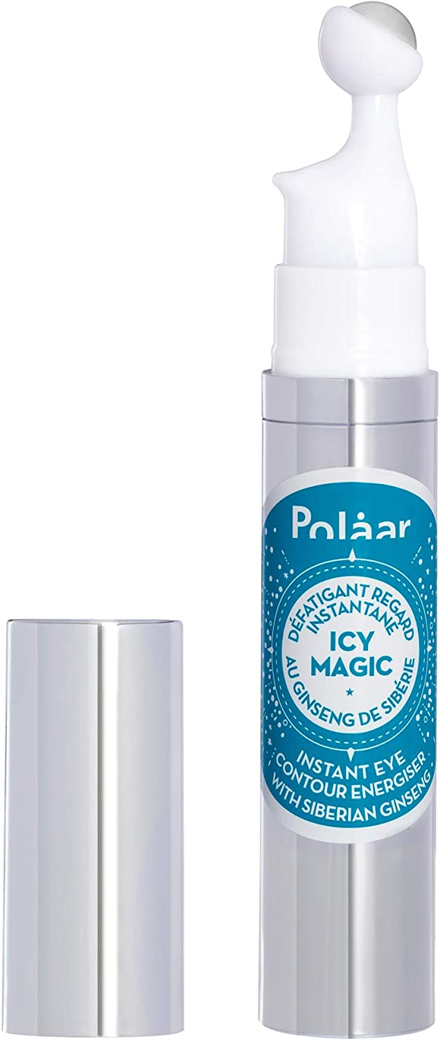 Polaar - Instant Eye Contour Energiser IcyMagic with Siberian Ginseng - 10 ml roll-on - Ice-cold ball - Eye care treatment - Anti-puffiness, anti-dark circles - Eyelash growth - Natural - No perfume