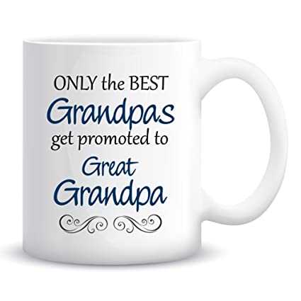 dd964d5af8a Image Unavailable. Image not available for. Color: Only The Best Grandpas  Get Promoted to Great Grandpa Coffee Mug