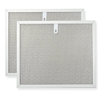 Range hood filter twin pack - Fits to Broan Range Hoods, Kenmore Range Hoods, General Electric Range Hoods, Whirlpool Range Hoods - 3 layer aluminium mesh 9.811.7, VNF-ZM01-2