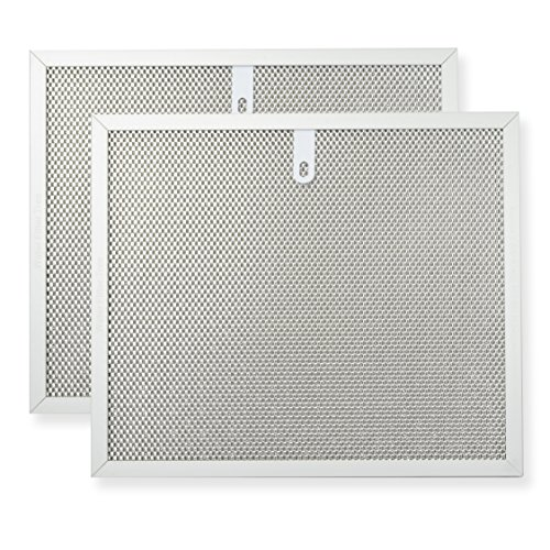 Hood Filter Pack (Range hood filter twin pack - Fits to Broan Range Hoods, Kenmore Range Hoods, General Electric Range Hoods, Whirlpool Range Hoods - 3 layer aluminium mesh 9.811.7,)