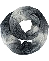 Luxury Divas Thick Cable Knit Ombre Gradient Circle Infinity Scarf