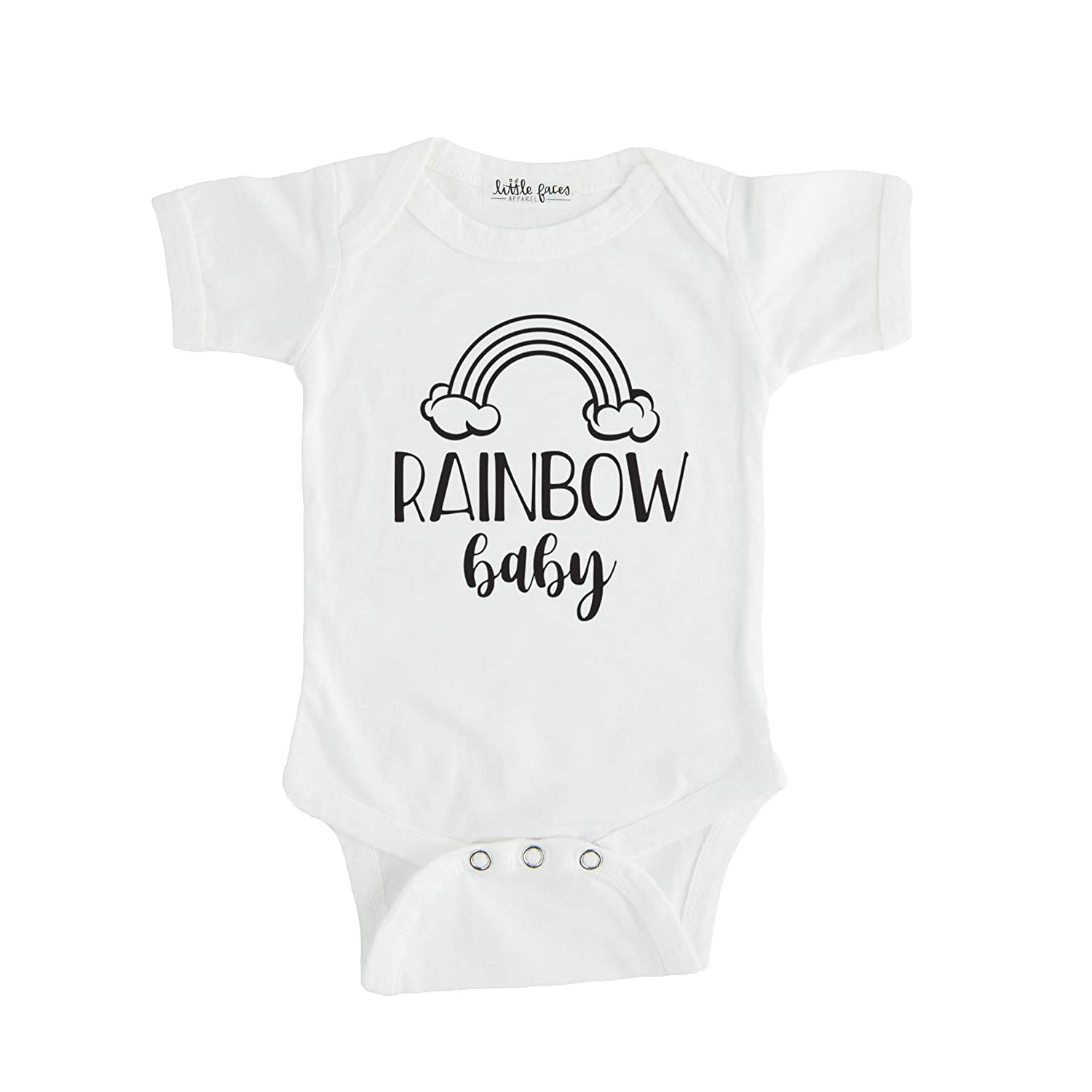 fc1b834333927 Amazon.com: Little Faces Apparel Rainbow Baby Pregnancy Announcement ...