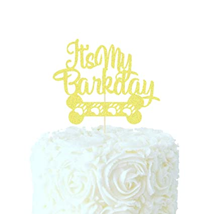 Excellent Heeton Its My Barkday Cake Topper Dog Birthday Party Puppy Birthday Cards Printable Giouspongecafe Filternl