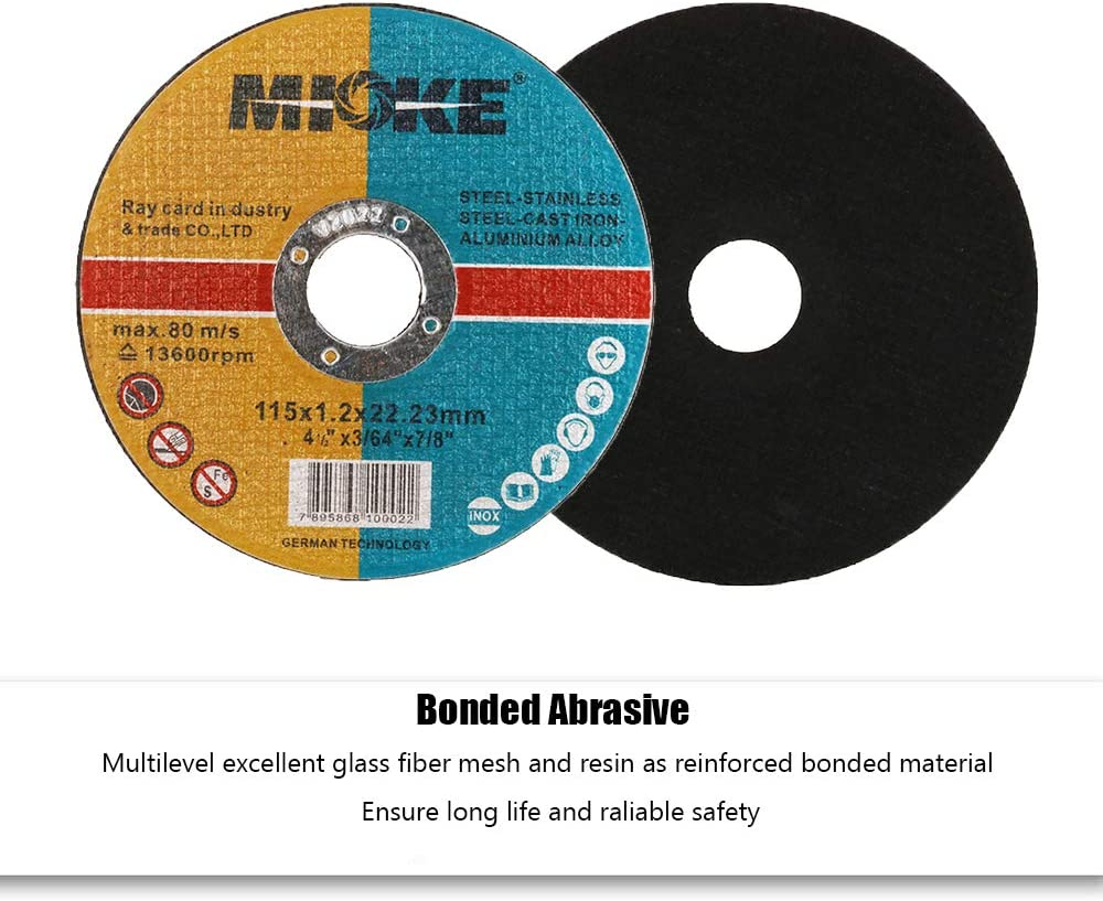 4.5 Cut Off Wheels for Angle Grinders Cutting Wheel Metal Cutting Disc 4 1//2 for Metal Stainless Steel with 22.23mm Arbor 1.2mm Thick 15 Pack