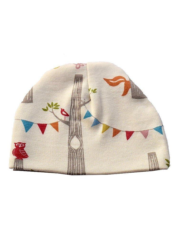 6945de2c448 Amazon.com  Sophia+Sam Baby Unisex Cream Wood Party Pattern Cotton Beanie  Hat 0-2  Clothing