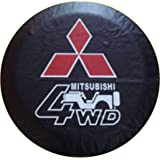 Car Spare Wheel Cover Spare Tire Cover 17 Inch For Mitsubishi Pajero