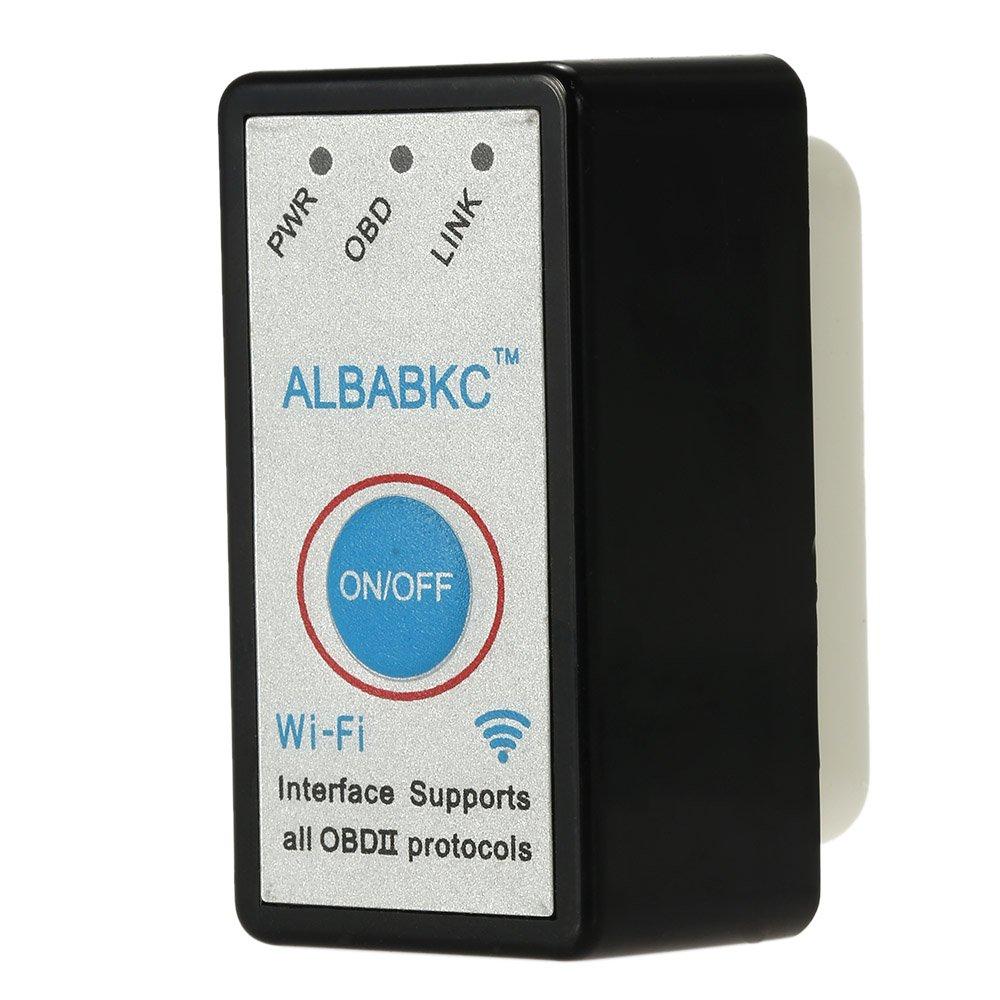 ALBABKC WiFi OBD OBDII Auto Diagnóstico Herramienta Escáner Lector de Código Compatible con Smartphone Android iOS, Negro: Amazon.es: Coche y moto