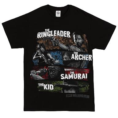 Amazon The Walking Dead Four Survivors Adult T Shirt Black Clothing