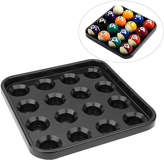 SOONHUA - Bandeja de almacenamiento para 16 bolas de billar, accesorio de piscina para salón de billar, accesorios ...