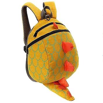 Unisex Infantiles Mochilas para Niñas Niño 3D Dinosaurio Backpacks Anti Perdidos 1-5 Años (amarillo): Amazon.es: Equipaje