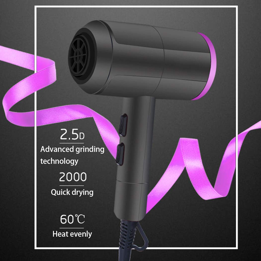 Thermostatic High Power Hair Salon Home Negative Ion Hot Cold Wind Mute Hair Dryer (Gray)