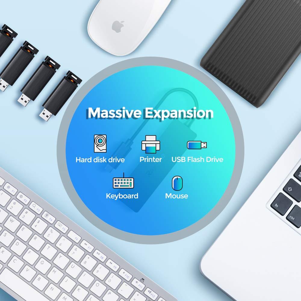 """adaptateur 5 en 1 en aluminium avec 4K HDMI 3 ports USB 3.0 Hub C USB MacBook Air 2018 et plus alimentation USB-C pour MacBook Pro 13 /""""et 15/"""" 2016//2017//2018 adaptateur de concentrateur de type C"""