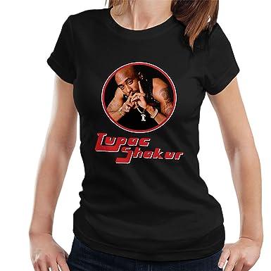 753efd11 Tupac Shakur Retro Rap Icon Women's T-Shirt: Amazon.co.uk: Clothing