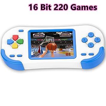 Amazon.es: Bornkid 16 bits Consola de Juegos de Mano para Niños y ...