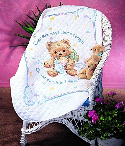 Cuddly Bear Quilt - Sunset Stamped Cross Stitch Quilt Kit Cuddly Bear