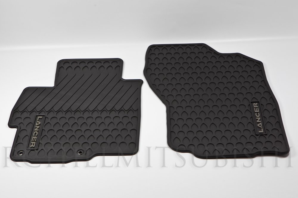 Genuine Mitsubishi All Weather Rubber 2 Piece (Front) Floor Mats MZ314505 Lancer & Evolution 2008 2009 2010 2011 2012 2013 2014