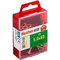 Fischer Power-F 659244 houtbouwschroef Verzonken kop 5,0x60 geel verzinkt