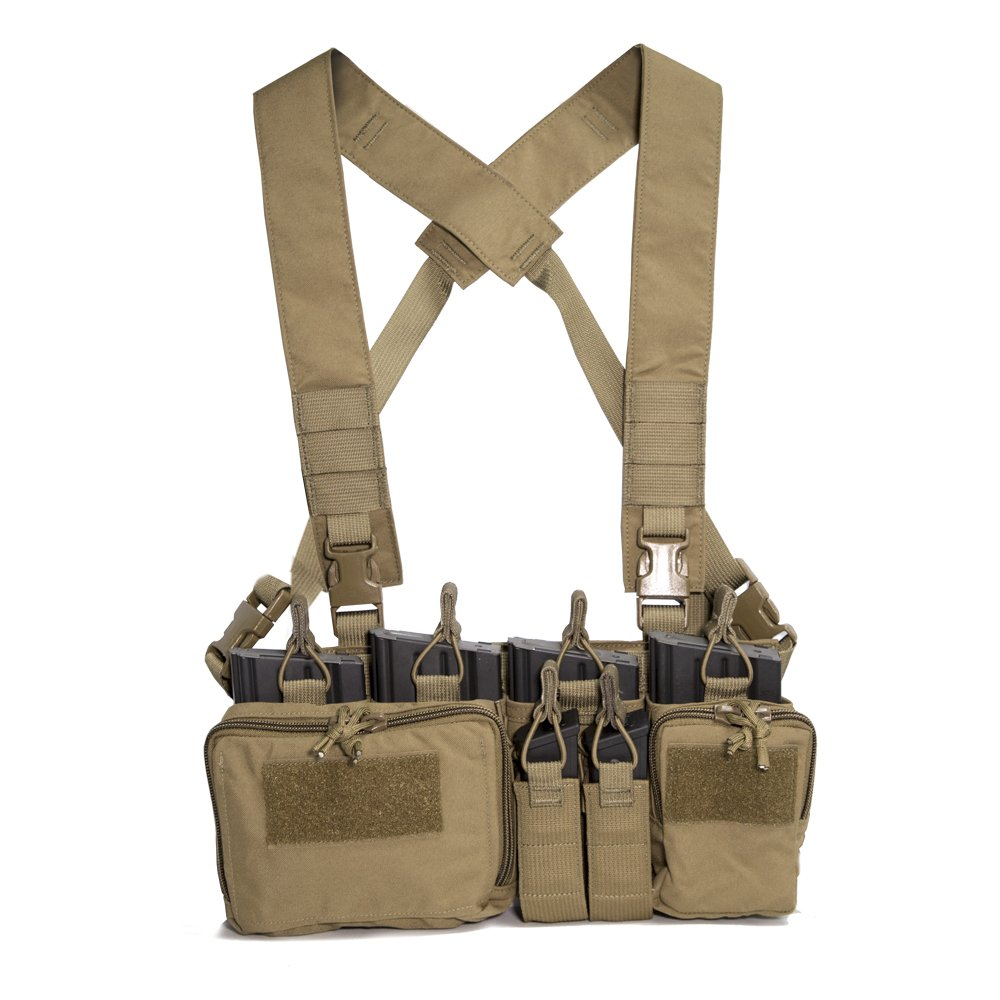 Haley Strategic Partners Disruptive Environments D3CR-H Heavy Chest Rig, Coyote Brown D3CR-HCOYOTE