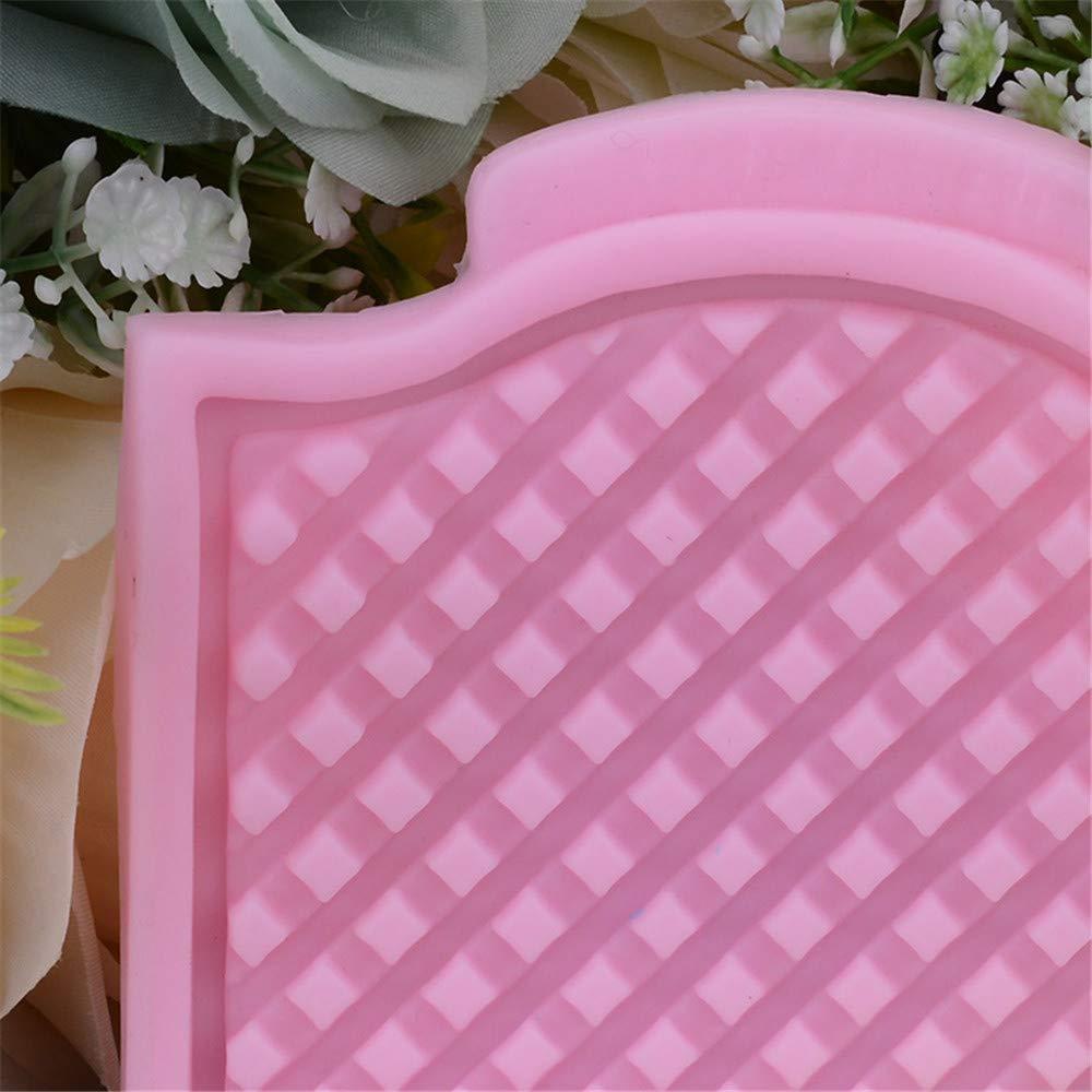 Diy rejilla de textura almohadilla cojines de silicona para la torta de chocolate galletas para hornear galletas de galletas jabón bandeja de cubitos de ...