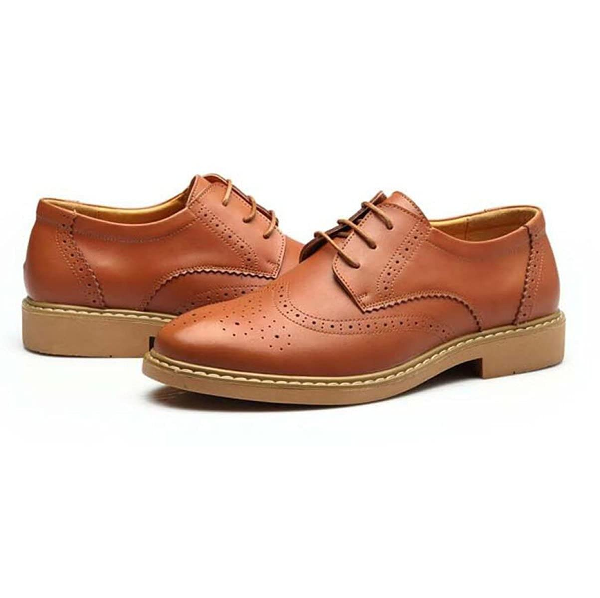 Schuhe Geschnitzt Herrenschuhe Lederspitze Atmungsaktiv Yellow Business Freizeitschuhe Retro Schuhe Yellow Atmungsaktiv 3048b5