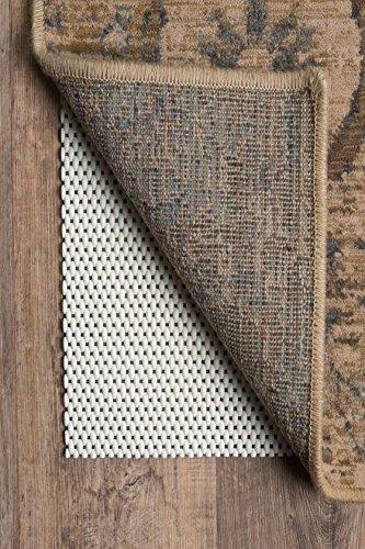 Premium Non slip Hard Surface Rug Pad, 2'x8' RUNNER, NATURAL
