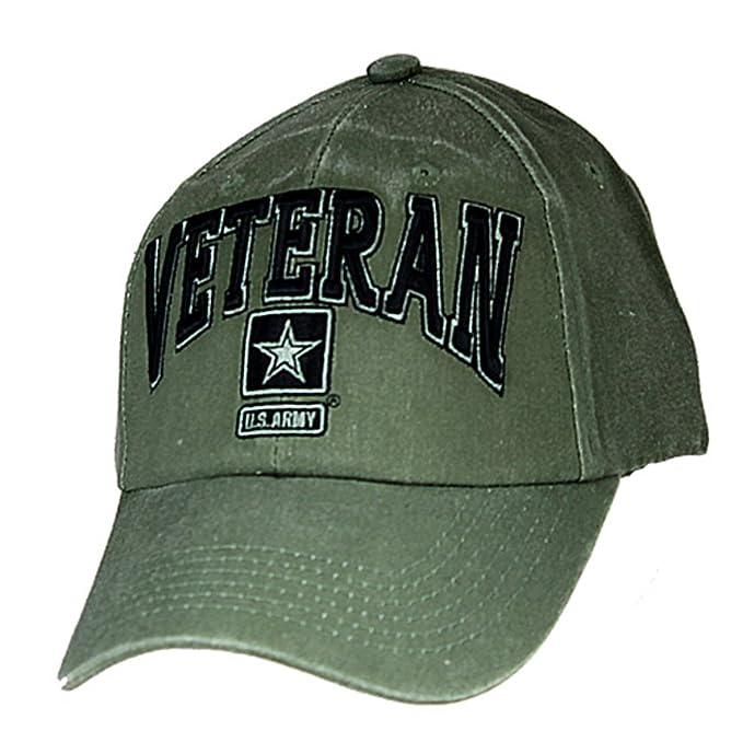72194c5871d Amazon.com  U.S. Army Veteran Cap. OD Green  Clothing