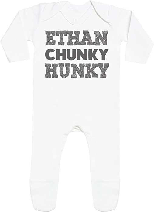 Personalizados bebé Name Chunky Hunky with Feet - peleles personalizados para bebé - regalos personalizados para bebé