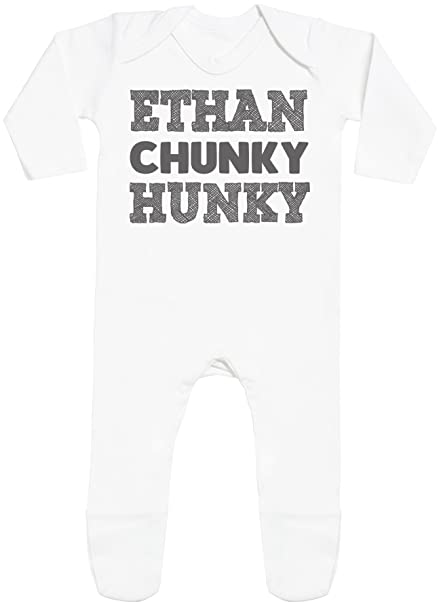 Personalizados bebé Name Chunky Hunky with Feet - peleles personalizados para bebé - regalos personalizados para bebé: Amazon.es: Ropa y accesorios