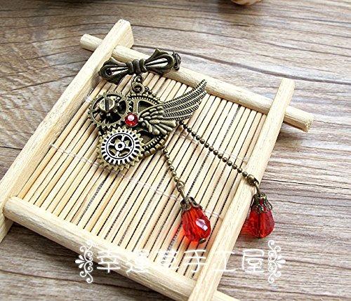 Custom vintage handmade diamond crystal pendant personalized steam lovers girlfriends 12 constellations blazer brooch