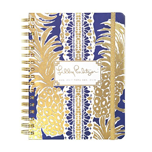 Lilly Pulitzer 17 month Large Agenda 2017-2018 (Flamenco Navy)