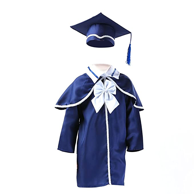 Amazon.com: TINKSKY Children\'s Graduation Gown and Cap For Kids Of ...