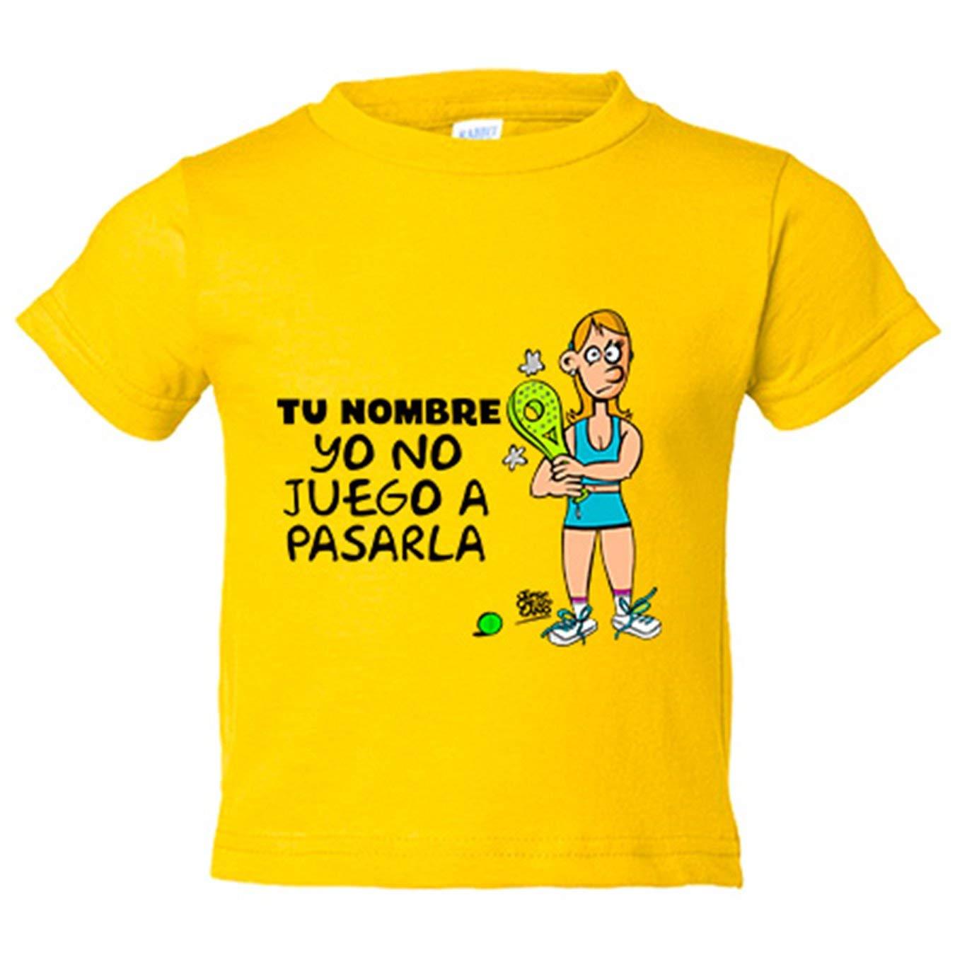 Camiseta niño padel ella yo no juego a pasarla ...