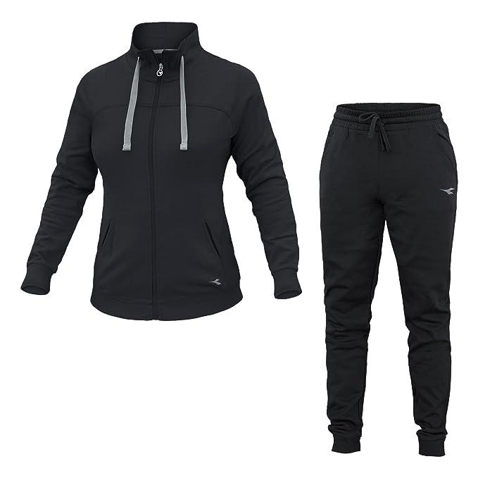 Diadora - Tuta L.FZ Cuff Suit Brushed FL per Donna  Amazon.it  Abbigliamento 1d755114861