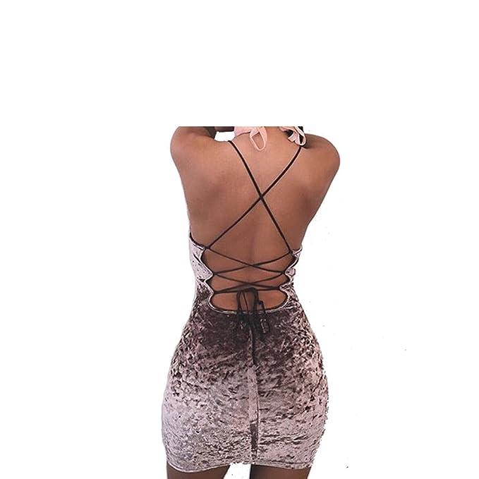c7bafb61e39 Velvet Criss Cross Stripes Back Design Bodycon Dress Slim Fitness ...