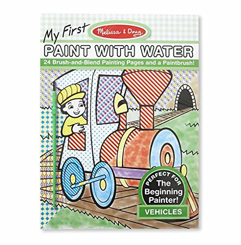 Melissa & Doug My First Paint With Water Coloring Book - Veh