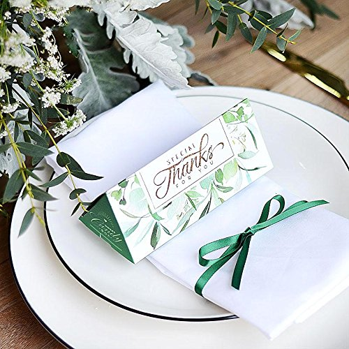 Clear Green Wedding Party Supplies Birthday Party Supplies Christmas Gift Boxes 20 Pieces (Candies or chocolates not included) by AUTULET (Image #4)