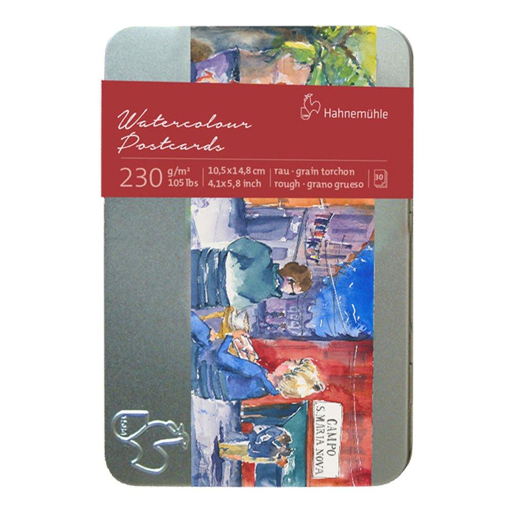 Carta acquerello 30 cartoline in scatola di metallo Hahnemühle Hahnemuhle