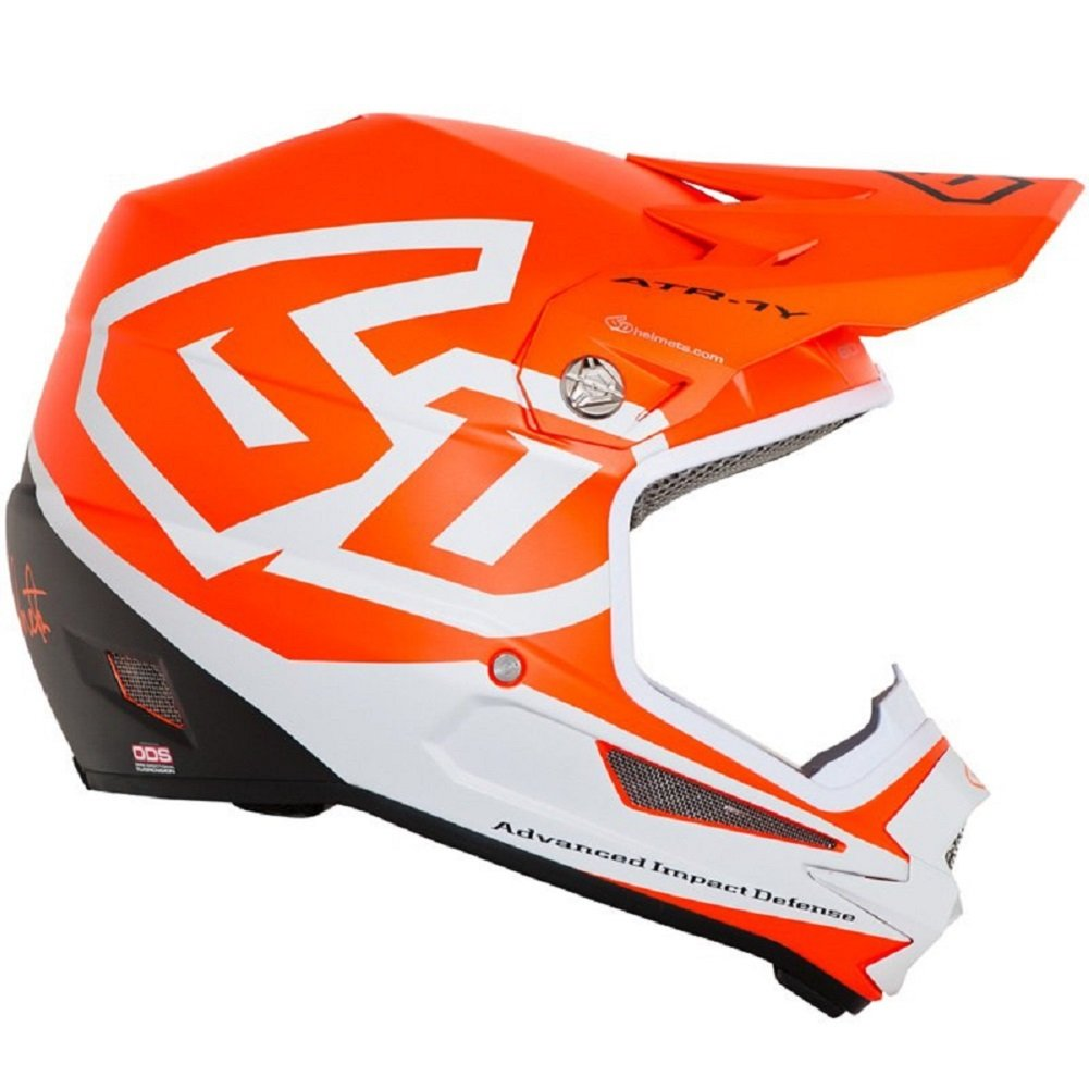 6D ATR-1Y Macro YOUTH Helmets (X-Large, Neon Orange) by 6d