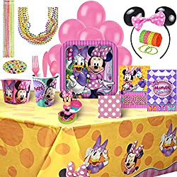 Birthday Bash In A Box Party Supplies (Minnie Mouse 153 Piece)