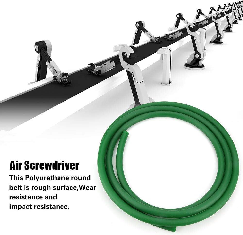 3mm*10m KEYREN Nastro Trasportatore Superficie Ruvida Verde In Poliuretano PU Cintura Tonda per Trasmissione Trasmissione