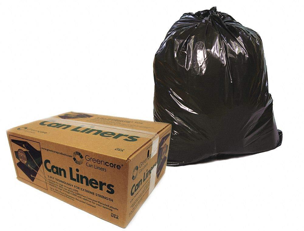 Black Recycled Compostable Trash Bag, 150 PK