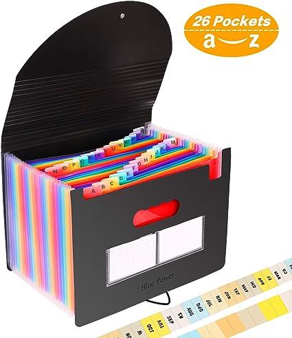 26 bolsillos Carpeta Clasificadora Documentos A4 Extensible ...