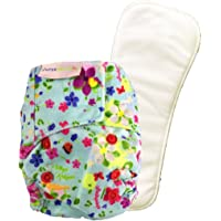 Superbottoms Newborn Cloth Diapers with 1 Dry Feel Soaker (Periwinkle)