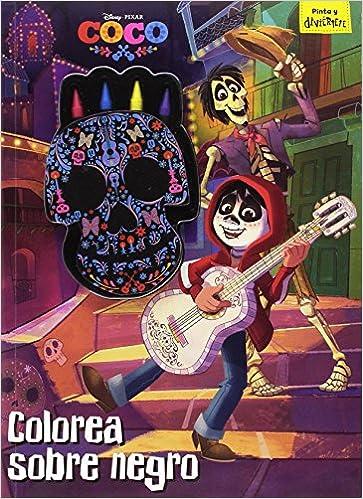 Coco Colorea Sobre Negro Libro Para Colorear Con Ceras Disney